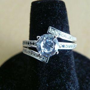 Black and White Zircon Ring